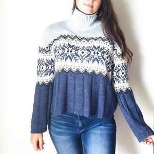 Nordic Fair Isle Vintage Oversized Sweater